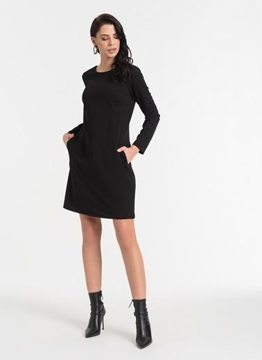 Styletag Klasik Elbise Siyah